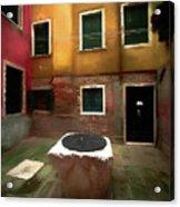 Facade Of Venice V1  Acrylic Print