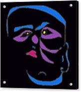 Face 1 On Black Acrylic Print