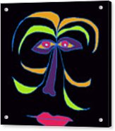 Face 2 On Black Acrylic Print