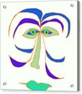 Face 2 On White Acrylic Print