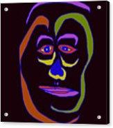 Face 5 On Black Acrylic Print