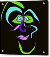 Face 6 On Black Acrylic Print