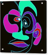 Face 7 On Black Acrylic Print