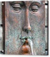 Face Fountain - Riviera Maya Mexico Acrylic Print