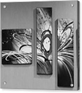 Face In Space B W 0 Acrylic Print
