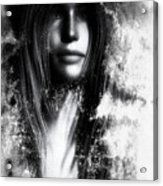 Face In The Mirror Acrylic Print