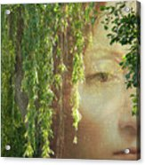 Face In The Willows Acrylic Print