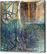 Face In The Window Embossed Montage Acrylic Print by Arline Wagner