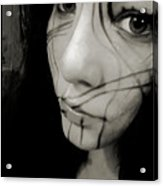 Face Lines Acrylic Print