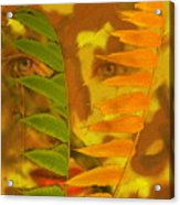 Face Of Fall Acrylic Print