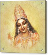 Face Of The Goddess - Lalitha Devi - Without Frame Acrylic Print