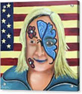 Face Paint And Freedom Acrylic Print
