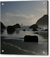 Face Rock And Stacks Acrylic Print
