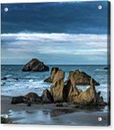 Face Rock Beach  Acrylic Print