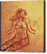 Faceless Mermaid Acrylic Print