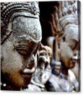 Faces Of Angkor Acrylic Print