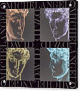 Faces Of David In Negative Acrylic Print