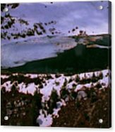 Facinating American Landscape   Snow Mountains Mini Lakes Winter Storms Welcome Trips To Nature Acrylic Print