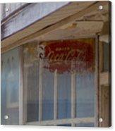 Faded Coca-cola Sign #vanishingtexas Storefront Rosebud Acrylic Print