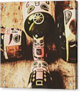 Faded Old Toys From A Vintage Past Acrylic Print