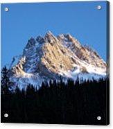 Fading Afternoon Sun Illuminates Mountain Peak  Acrylic Print
