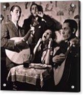 Fado Singer In Portuguese Night Club Acrylic Print
