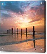 Fahaheel Sunrise Kuwait Acrylic Print by Shahbaz Hussain's Photos