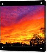 Fair Oaks Sunset Acrylic Print