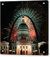 Fair St Louis Fireworks Acrylic Print