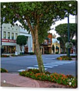 Fairhope Ave With Clock Acrylic Print