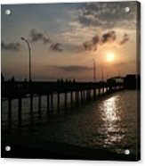 Fairhope Pier At Dusk Acrylic Print