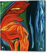 Fairies Of Fire And Ice Acrylic Print