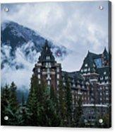 Fairmont Springs Hotel In Banff, Canada Acrylic Print