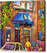 Fairmount Bagel Fairmount Street Montreal Acrylic Print
