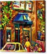 Fairmount Bagel In Montreal Acrylic Print