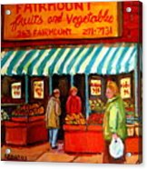 Fairmount Fruit And Vegetables Acrylic Print