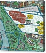 Fairmount Neighborhood Map Acrylic Print