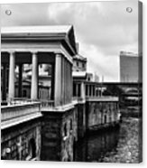 Fairmount Water Works In Black And White Acrylic Print