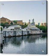 Fairmount Waterworks And Philadelphia Art Museum In The Morning Acrylic Print