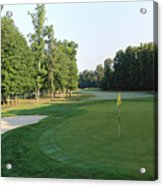 Fairway Hills - 4th - A Straight-in Par 4 Acrylic Print