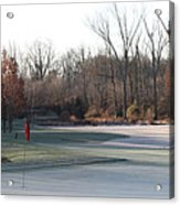 Fairway Hills - 7th - Beware Of The Tree And The Pond Panorama Acrylic Print