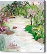 Fairy Blossom Falls Acrylic Print