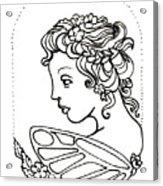 Fairy Cameo Acrylic Print