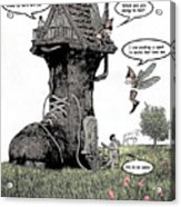 Fairy Comic Illustration 1 Acrylic Print