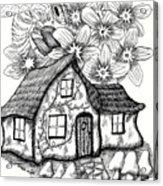 Fairy House, Bee, And Dogwood Acrylic Print