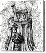 Fairy House Stump With Penthouse Acrylic Print