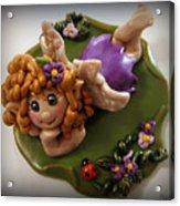 Fairy In Purple Acrylic Print by Trina Prenzi