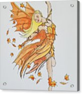 Fall Fairy Acrylic Print