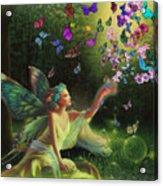 Fairy Of The Butterflies Acrylic Print