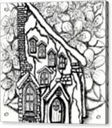 Fairy Stucco House With Flowers Acrylic Print